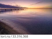 Купить «Beautiful seascape at sunset, black sea, Anapa, Russia», фото № 33316368, снято 17 февраля 2020 г. (c) Иванов Алексей / Фотобанк Лори