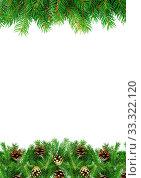 Купить «Christmas green framework isolated on white background», фото № 33322120, снято 6 июня 2020 г. (c) age Fotostock / Фотобанк Лори