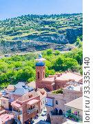 View of Jumah Mosque in Abanotubani district in Tbilisi. Georgia. Редакционное фото, фотограф Николай Коржов / Фотобанк Лори