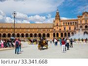 Plaza de Espana in Seville (2019 год). Редакционное фото, фотограф Яков Филимонов / Фотобанк Лори
