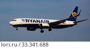 Купить «Ryanair airliner EI-FTS on final approach to El Prat Airport», фото № 33341688, снято 26 января 2020 г. (c) Яков Филимонов / Фотобанк Лори