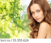 Купить «beautiful woman with curly hair», фото № 33355624, снято 10 октября 2010 г. (c) Syda Productions / Фотобанк Лори