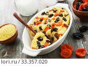 Купить «Millet casserole with dried fruits», фото № 33357020, снято 29 марта 2019 г. (c) Надежда Мишкова / Фотобанк Лори