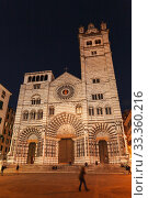 Купить «Cattedrale Metropolitana di San Lorenzo, Genova», фото № 33360216, снято 17 января 2018 г. (c) EugeneSergeev / Фотобанк Лори