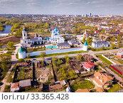 Купить «Vysotsky monastery of Serpukhov», фото № 33365428, снято 1 мая 2019 г. (c) Яков Филимонов / Фотобанк Лори