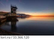 Купить «Seascape and wharf in the small bay of Anapa, Russia after sunset», фото № 33366120, снято 17 февраля 2020 г. (c) Иванов Алексей / Фотобанк Лори
