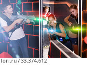 Купить «Lucky players playing in teams», фото № 33374612, снято 27 августа 2018 г. (c) Яков Филимонов / Фотобанк Лори