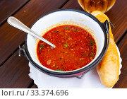 Купить «Delicious mexican bean soup closeup», фото № 33374696, снято 5 июля 2020 г. (c) Яков Филимонов / Фотобанк Лори