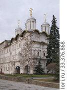 Купить «Патриаршие палаты с церковью собора двенадцать апостолов Московского Кремля», эксклюзивное фото № 33376868, снято 9 марта 2020 г. (c) Илюхина Наталья / Фотобанк Лори