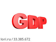 3d illustration word gdp. Стоковое фото, фотограф Zoonar.com/zhu difeng / age Fotostock / Фотобанк Лори