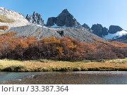 Купить «Cerro Castillo Mountains, Cerro Castillo National Park, Patagonia, Chile. January 2017.», фото № 33387364, снято 8 апреля 2020 г. (c) Nature Picture Library / Фотобанк Лори