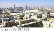 Городской пейзаж. Вид сверху. Екатеринбург (2012 год). Редакционное фото, фотограф Сергей Афанасьев / Фотобанк Лори