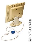 Купить «Старый компьютерный монитор на белом фоне», фото № 33390888, снято 22 февраля 2020 г. (c) V.Ivantsov / Фотобанк Лори