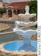 Marble tree tier water fountain. Cyprus (2018 год). Стоковое фото, фотограф Serg Zastavkin / Фотобанк Лори