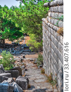 Купить «Ancient Greek city Priene on the western coast of Turkey», фото № 33407616, снято 20 июля 2019 г. (c) Sergii Zarev / Фотобанк Лори