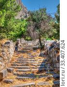 Купить «Ancient Greek city Priene on the western coast of Turkey», фото № 33407624, снято 20 июля 2019 г. (c) Sergii Zarev / Фотобанк Лори