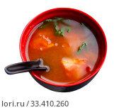 Japanese spicy soup. Стоковое фото, фотограф Яков Филимонов / Фотобанк Лори