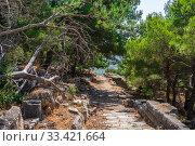 Купить «Ruins of the Ancient city Priene in Turkey», фото № 33421664, снято 20 июля 2019 г. (c) Sergii Zarev / Фотобанк Лори