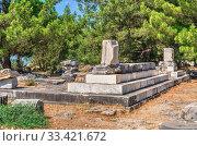 Купить «Ruins of the Ancient city Priene in Turkey», фото № 33421672, снято 20 июля 2019 г. (c) Sergii Zarev / Фотобанк Лори