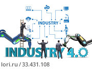 Modern industry 4.0 technical automation concept. Редакционное фото, фотограф Elnur / Фотобанк Лори