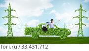 Купить «Electric car and green energy concept», фото № 33431712, снято 10 июля 2020 г. (c) Elnur / Фотобанк Лори