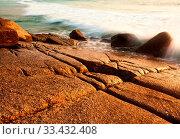 Sea tide drops in sunset lights. Стоковое фото, фотограф Zoonar.com/Dmitry Kushch / age Fotostock / Фотобанк Лори
