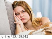 Portrait of woman sad and thinking. Стоковое фото, фотограф Яков Филимонов / Фотобанк Лори