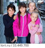 Купить «Children play on street», фото № 33449700, снято 21 октября 2017 г. (c) Яков Филимонов / Фотобанк Лори