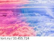 Купить «Magical dream, nature backdrop and spiritual holiday concept - Dreamy surreal sky as abstract art, fantasy pastel colours background for modern design», фото № 33455724, снято 9 апреля 2020 г. (c) easy Fotostock / Фотобанк Лори