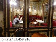 Cafe Florian in the Piazza San Marco, Venice, Italy. (2019 год). Редакционное фото, фотограф Douglas Williams / age Fotostock / Фотобанк Лори