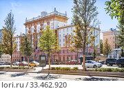 Посольство США в Москве The building of the US Embassy  in Moscow (2019 год). Стоковое фото, фотограф Baturina Yuliya / Фотобанк Лори