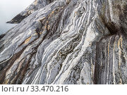 Купить «Coastal landscape with marble formations. Tomma Island, Helgeland Archipelago, Norway.», фото № 33470216, снято 3 июня 2020 г. (c) Nature Picture Library / Фотобанк Лори