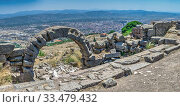 Купить «Ruins of the Pergamon Ancient City in Turkey», фото № 33479432, снято 22 июля 2019 г. (c) Sergii Zarev / Фотобанк Лори