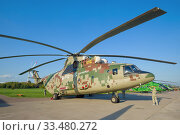 Новый российский тяжёлый многоцелевой транспортный вертолёт Ми-26Т2В на авиашоу МАКС-2019. Редакционное фото, фотограф Виктор Карасев / Фотобанк Лори