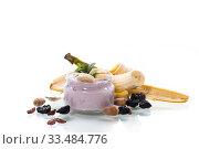 Купить «home sweet banana yogurt in a glass jar», фото № 33484776, снято 1 апреля 2020 г. (c) Peredniankina / Фотобанк Лори