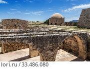 Купить «Ruins of the Venetian castle Fortezza in Rethymno, Crete, Greece», фото № 33486080, снято 3 июня 2017 г. (c) Наталья Волкова / Фотобанк Лори