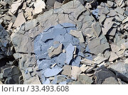 Купить «Limestone is a sedimentary rock mainly composed of calcium carbonate. Fragments.», фото № 33493608, снято 24 марта 2020 г. (c) age Fotostock / Фотобанк Лори
