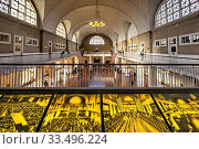 New York. Manhattan. Immigration center at Ellis Island. Стоковое фото, фотограф Marco Brivio / age Fotostock / Фотобанк Лори