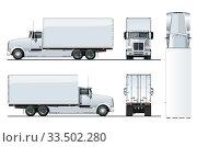Купить «Vector truck template isolated on white», иллюстрация № 33502280 (c) Александр Володин / Фотобанк Лори