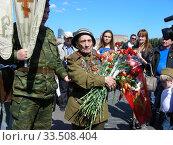 Купить «Ветераны Великой Отечественной войны во время праздника Победы 9 мая на Поклонной горе в Москве», эксклюзивное фото № 33508404, снято 9 мая 2011 г. (c) lana1501 / Фотобанк Лори