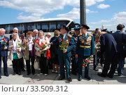 Купить «Ветераны Великой Отечественной войны во время праздника Победы 9 мая на Поклонной горе в Москве», эксклюзивное фото № 33509312, снято 9 мая 2010 г. (c) lana1501 / Фотобанк Лори
