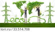 Купить «Electric car and green energy concept», фото № 33514708, снято 15 июля 2020 г. (c) Elnur / Фотобанк Лори