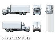 Купить «Vector truck template isolated on white», иллюстрация № 33518512 (c) Александр Володин / Фотобанк Лори