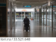 Germany, Bremerhaven - Due to Corona hardly any operation in the Columbus Shopping Center. Редакционное фото, агентство Caro Photoagency / Фотобанк Лори