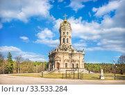 Купить «Знаменская церковь в Дубровицах», фото № 33533284, снято 21 марта 2020 г. (c) Baturina Yuliya / Фотобанк Лори