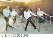 Купить «People dancing tap dance», фото № 33538248, снято 4 октября 2018 г. (c) Яков Филимонов / Фотобанк Лори