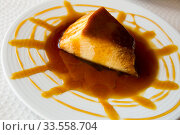 Caramel pudding or flan. Стоковое фото, фотограф Яков Филимонов / Фотобанк Лори
