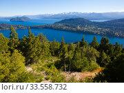 Купить «Lakes Nahuel Huapi and mountain Campanario», фото № 33558732, снято 6 февраля 2017 г. (c) Яков Филимонов / Фотобанк Лори