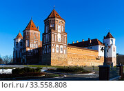 Medieval castle in the city Mir. Republic of Belarus. Стоковое фото, фотограф Яков Филимонов / Фотобанк Лори