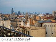 Купить «Aerial view of Barcelona», фото № 33558824, снято 2 июня 2017 г. (c) Яков Филимонов / Фотобанк Лори